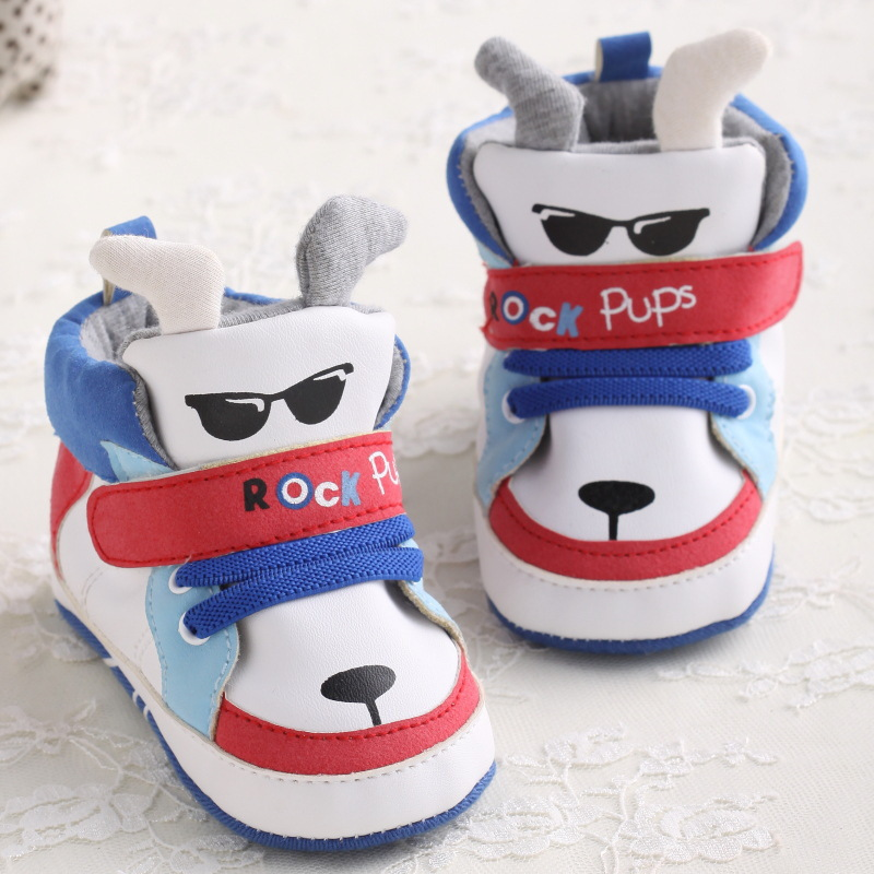 Newborn Infant Prewalker Baby Shoes Boys Dogs Leather Bebe Soft Boots Newborn Toddler First Walkers Pram Shoes Cartoon Animals