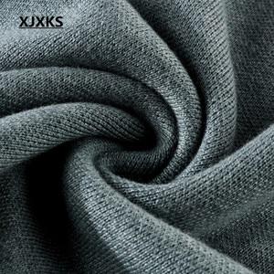 Image 5 - XJXKS 2019 new winter thick warm warm cashmere sweater women pullover loose plus size fashion diamond printed women tops