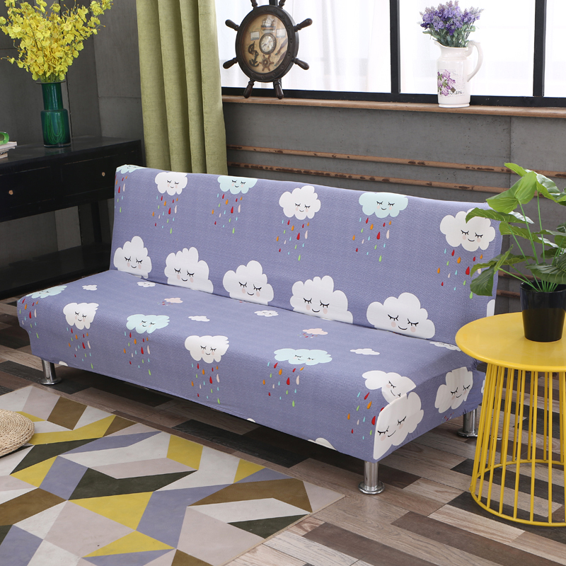 Universal size Armless Sofa Bed Cover Folding seat slipcovers stretch covers cheap Couch Protector Elastic bench Futon Covers 75