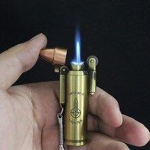 Пуля факел турбо зажигалка Металл бутан зажигалка Ретро газовая сигарета 1300 C ветрозащитная зажигалка аксессуары для курения
