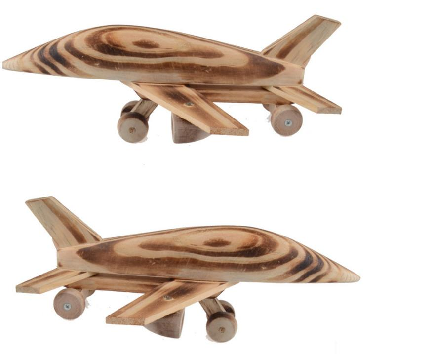1pc/pack Children wooden plane <font><b>model</b></font> toys/ Kids wood 26cm long aviation <font><b>Aircraft</b></font> for classic toys, free shipping image