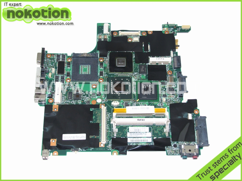 NOKOTION FRU 04w6537 Brand Laptop Motherboard for LENOVO IBM thinkpad R61 T61 14.1 PM965 Quadro NVS 140M graphics update nokotion fru 63y1878 48 4cu06 031 laptop motherboard for lenovo thinkpad t510 qm57 quadro nvs 3100m board mainboard