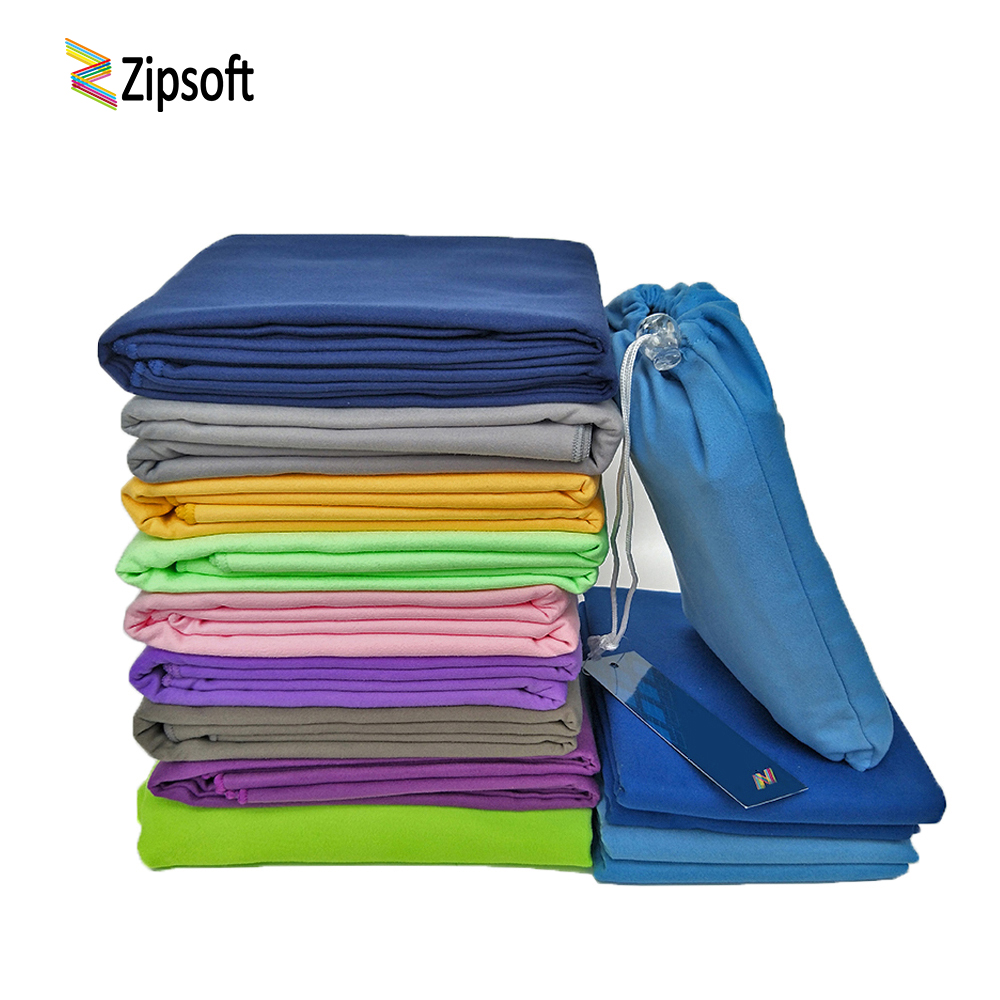 Zipsoft Microfiber Travel Håndkle Beach Sports Bag Rask Tørking Svømming Gym Camping Lettvekt Brand New Hot Yoga Mat Christmas