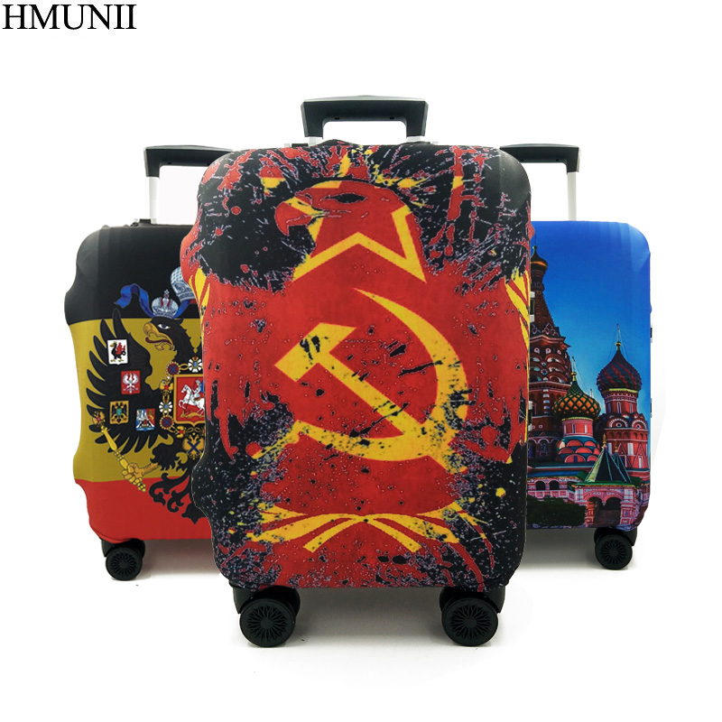 HMUNII Luggage Protective Cover For 18 to 30 inch Fashion Colorful  Trolley suitcase Elastic Dust Bags Case Travel Accessories