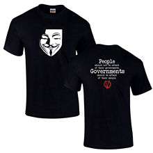 V For Vendetta Anonymous We Are Legion Anarchy Anti Government Unisex T-Shirt New T Shirts Funny Tops Tee