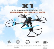 Brushless Motor Drone Hexacopter Professional Quad JJRC X1 Remote Control Helicoptero Mini Drone font b Rc