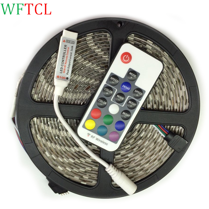 WFTCL RGB LED strip led light waterproof 5050 SMD led tape diode ribbon flexible DC 12V  ...