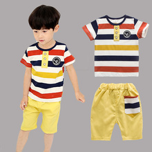 Baby Boys clothes set cotton short sleeve T-shirt Top +Shorts pant 2PCS 3-7T kids Clothing suit for boy children summer 2019 new new 2017 retail children set cartoon dusty plane fashion suit boys jeans sets t shirt pant 2pcs kids summer clothing