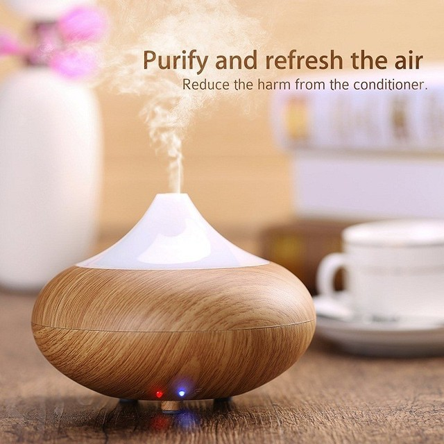 Ultrasonic Humidifier Essential oil diffuser LED Light 7 Color Change aroma lamp Aromatherapy electric aroma diffuser mist maker