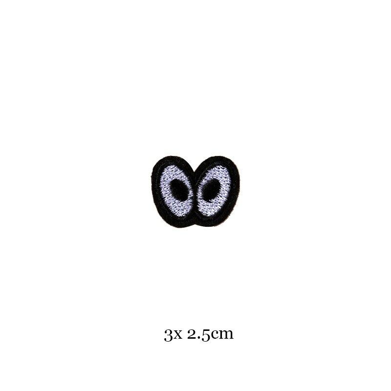 1 шт., черные, белые байкерские нашивки для одежды, железная одежда, аппликация с буквами, Череп, звезда, полосы, вышитая наклейка, круглый значок - Цвет: 1