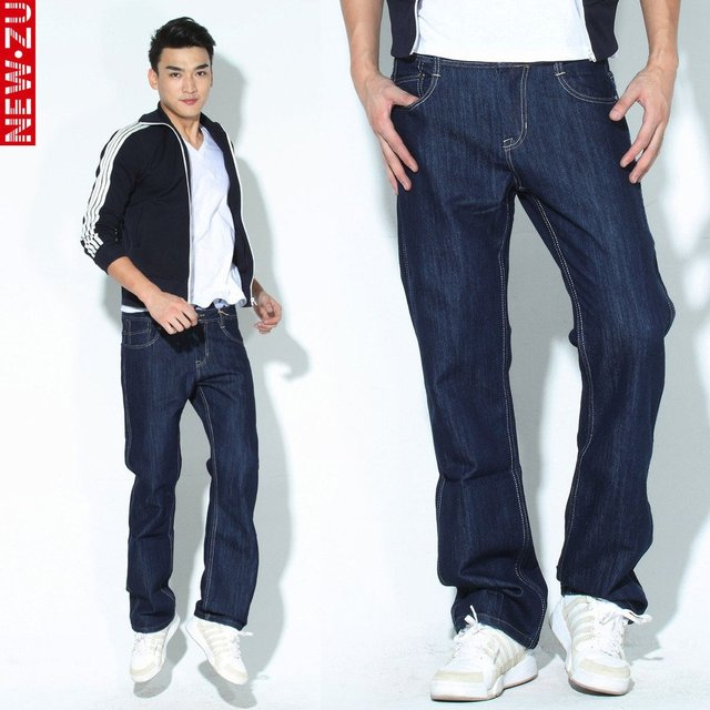 Blue Denim Jeans Men 29 Free Shipping,Mens Designer Pants Mid Waist Straight Trousers Classic Style Jean Trouser Cheap 1047b