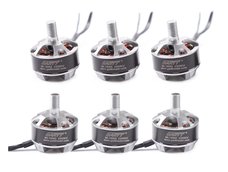 GARTT 3pcs CW 3pcs CCW ML 1806 S 2300KV Brushless Motor For QAV FPV 180 210 250 Quadcopter Multicopter Drone lhi fpv 4x mt2206 2300kv cw ccw fpv brushless motor 2 4s 4 pcs racerstar rs20a lite 20a blheli s bb1 2 4s brushless esc