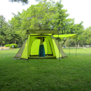 Automatic tents 3-4 people double deck tents outdoor camping trip speed tents opened camping tent