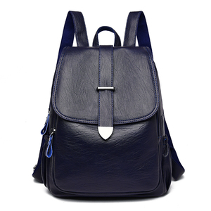 Image 3 - NEW Women Backpack high quality Leather  Fashion school Backpacks Female Feminine Casual Large Capacity Vintage Shoulder Bags