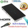Дисплей wi-fi мини пико-проектор встроенный аккумулятор сенсорная панель смарт Projektor tft-hdmi USB портативный Proiettore для офиса дома используется