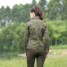 Outwear Jacket Short Spring Jacket Women Green Slim Fit Long Sleeve Military Female Jacket Autumn Outdoors Coat Jacket Gs-823