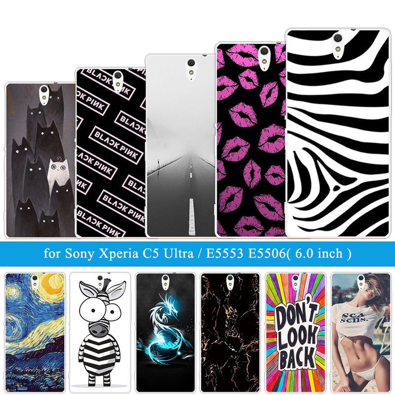 Phone Case For Sony Xperia C5 Ultra Zebra Cover Silicone 6.0