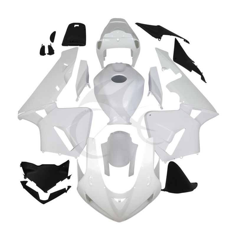 Unpainted ABS White Injection Fairing Kit For Honda CBR600RR CBR 600 RR F5 03 04