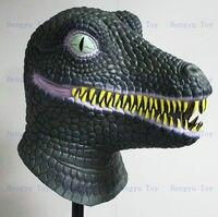 Rubber Latex Nauty Full Head Dinosaur Mask, Ancient Animal Cosplay Costume, Fancy Dress For