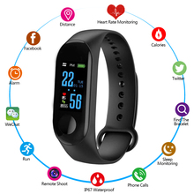 M3 Smart Fitness Bracelet Pressure Tracker Heart Rate Blood Monitor wristband Camera Control Band Watch