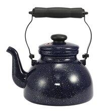 2,0 л эмалированный чайник со свистком звезды, большая емкость, гарантированное качество, используется для открытого чайник с пламенем