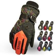 Winter New Outdoor Adjustable Windproof Thermal Snowboard Ski Gloves Women/Men's Antiskid Motorcycle Gloves