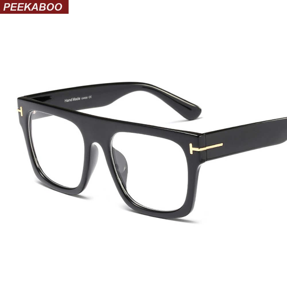 c52fe6e975 Peekaboo flat top square oversize glasses for women optical leopard black  designer eyeglass frames for men