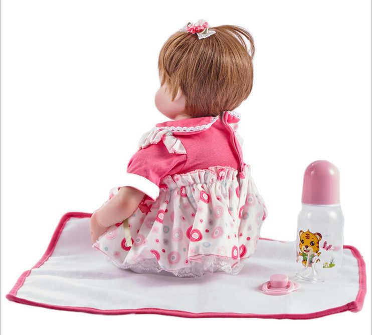 45 см Кукла реборн Младенцы силиконовые куклы реборн игрушки реалистичные BeBe Reborn Новорожденные Bonecas игрушки Juguetes игрушки для младенцев