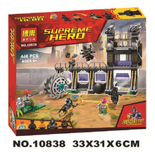 10838 Marvel Avengers Infinity War Super Heroes Corvus Glaive Thresher Attack Building Block Brick Toy Compatible Legoings
