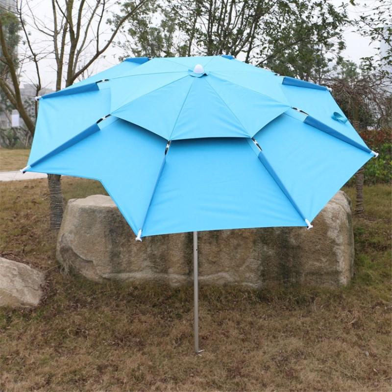 Di Campeggio esterna di Pesca 12 tipo di Ombrello di 1.8-2.2 m Universale a prova di Pioggia Protezione Solare Spiaggia Resto Pesca Anti-Uv Parasole tenda
