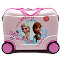 Creative Girl Elsa Anna Travel Locker Handbag/Child Toy Luggage Suitcase On Wheels/Can Sit to Ride Check Box Baby Christmas Gift