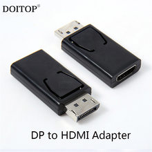 DOITOP 20Pin DP zu HDMI DVI Adapter ABS Display Port Adapter Unterstützung 10,8 Gbps 1080 P Video Audio Übertragung Digital zubehör(China)