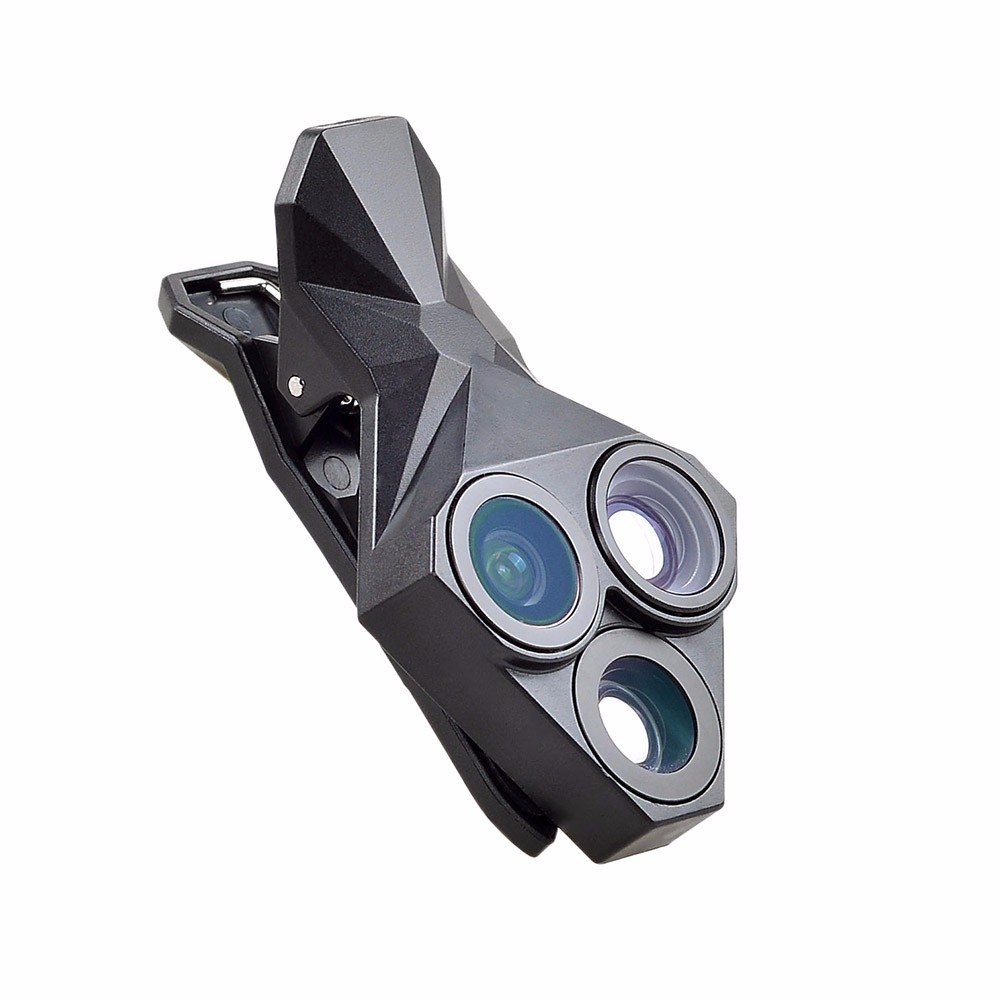 APEXEL arrival Camera Lens Kit 3 in 1 Fisheye Lens Wide Angle Macro mobile phone Lens Kit for iPhone Android Xiaomi APL-YT3 7