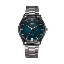 Часы мужские стальные модные MIGEER Кристалл Бизнес Шарм Аналоговый кварцевые браслет для наручных часов Relogio Masculino A2