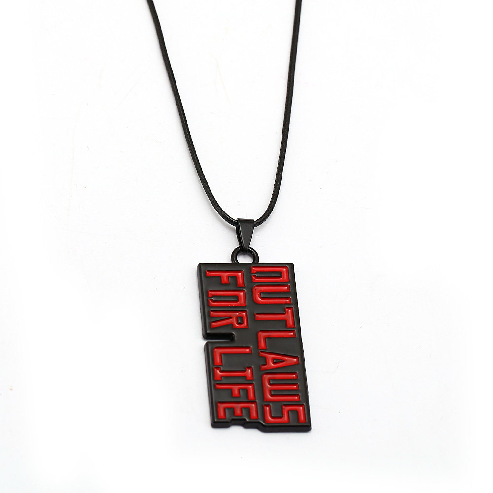 Game red dead redemption 2 Necklaces for Men Women's Necklace Male Femme Collier