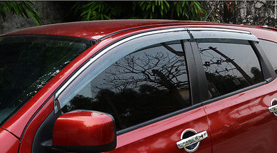 Window Visor rain sun shield guard protector for Nissan Qashqai Dualis 2008-2013 цены