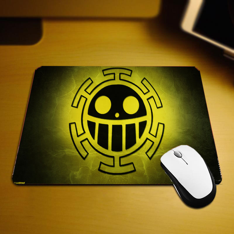 Mairuige Heart Pirate Group Logo Flag Pattern Printing Mouse Pads Japan Anime Comic Onepiece Mini Size Pc Computer Gaming Mouse