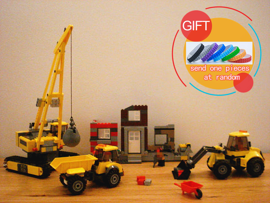 02042 869PCS Demolition Site City Construction Demolition Site Building Blocks Bricks Toys for Kids 60076 lepin site forumklassika ru куплю баян юпитер