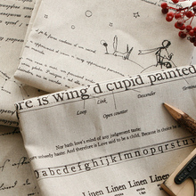 English Letter upholstery Fabric Printed  cotton and linen fabric by meter for DIY sofa pillow cloth tablecloth