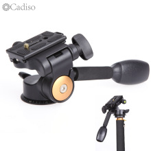 Cadiso Q08 3-way Three-dimensional Photo Tripod Head Camera Tripod Hydraulic Damping Handle Ballhead Universal Camera Gimbal