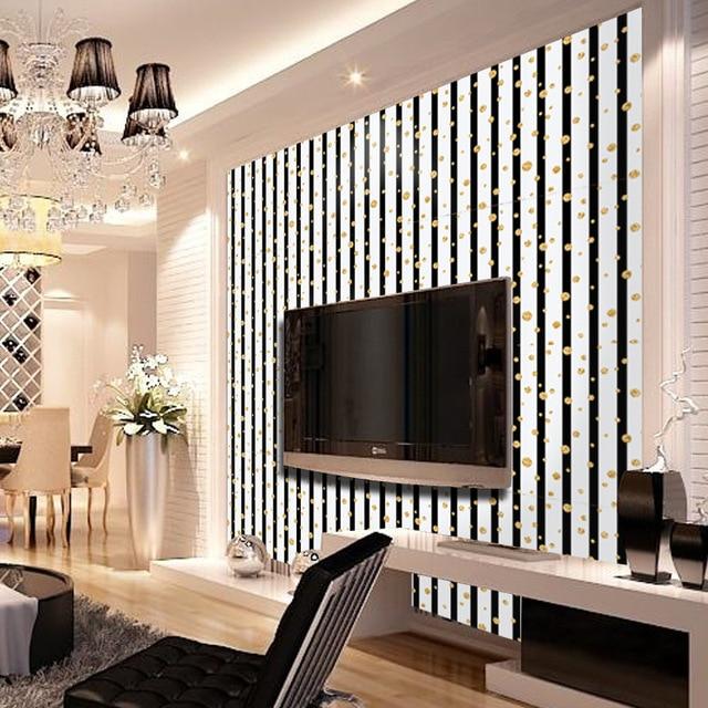 Fashion Luxury Golden Circle Vertical Stripes Wallpaper Living Room Background Wall Decor Art Paper Sa