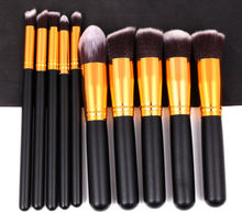 Makeup Brushes 10 Pcs 8 Color Professional Soft Cosmetics Beauty Make up Brush Set Kit Tools Woman's Make up Brushes Maquiagem