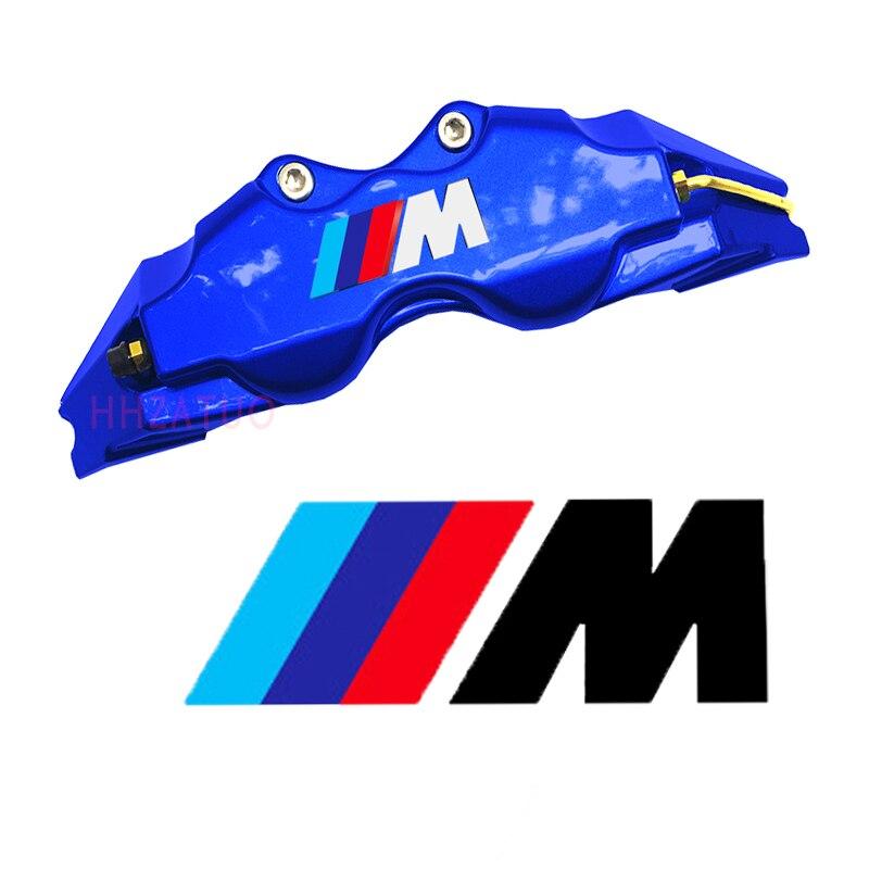 4x car sticker for bmw  f20 f22 f30 f10 e36 e46 e39 e90  e60 accessories High Quality Brake Caliper decal sticker M logo Emblem винт 4 8 m3 20 22 24 27 30 33 36 1