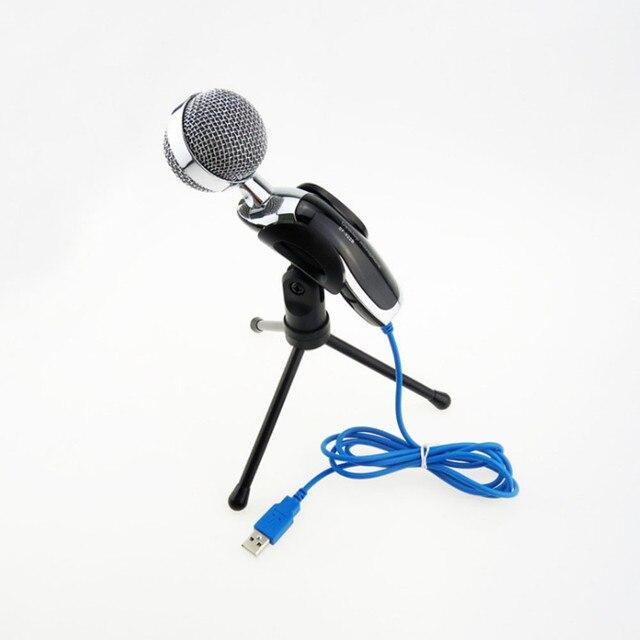 Горячая Конденсатор Звукозаписи Микрофон с шумоподавлением Микрофон Стоять Микрофон для Компьютера PC Ноутбук # И ДР.