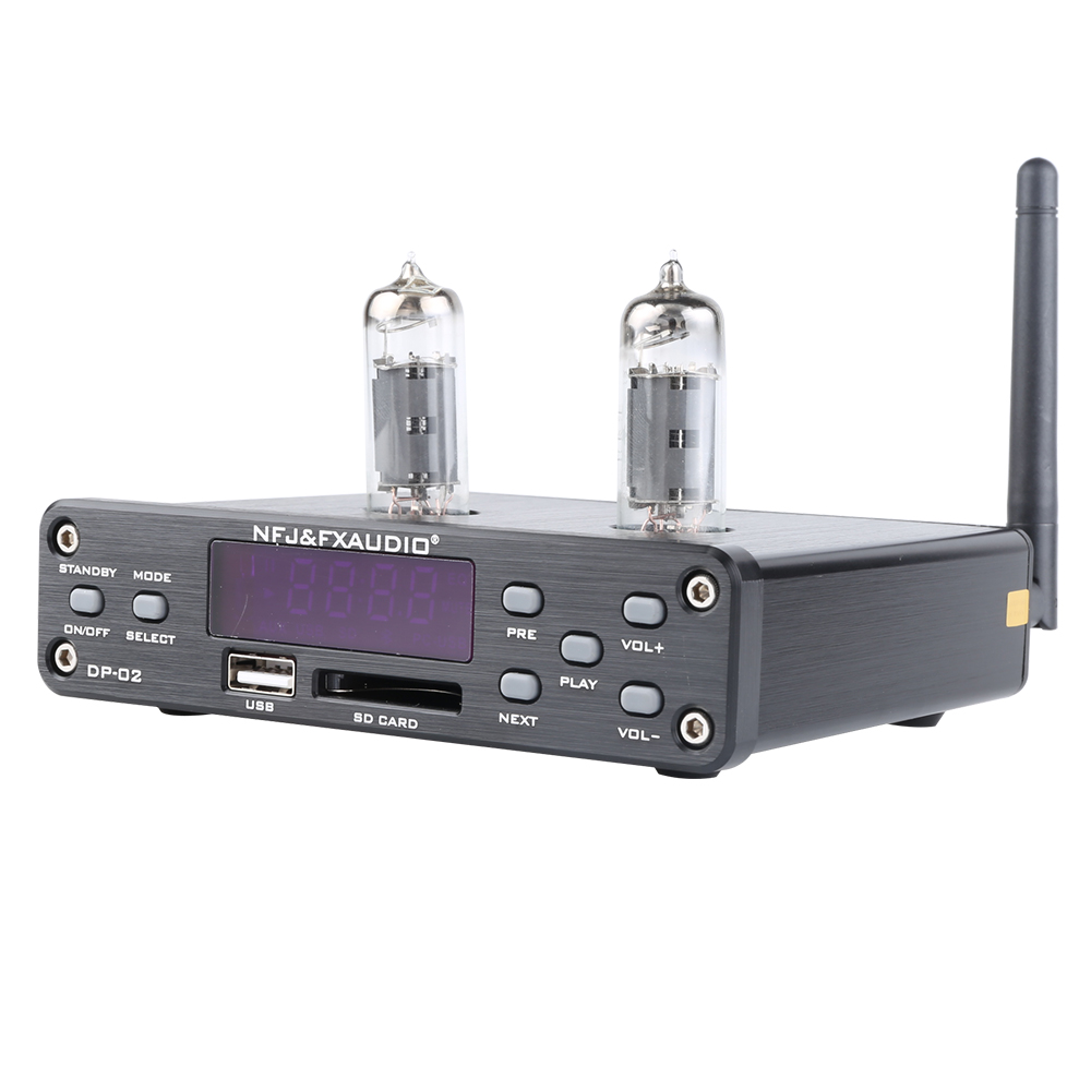 NEW NFJ&FXAUDIO DP-02 6K4 MINI HiFi <font><b>Bluetooth</b></font> Audio <font><b>Preamplifier</b></font> <font><b>tube</b></font> amplifier Headphone Output Amplifier With U-Disk / SD Card image