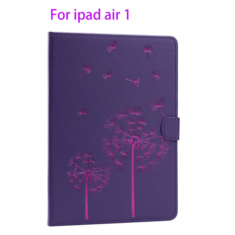Fashion Flowers pattern Leather Cover For Apple ipad Air ipad 5 Case Fundas Tablet Soft TPU rubber Stand Flip Protective Shell coque fundas for apple ipad air ii 2 pu leather stand luxury new cover case for ipad 6 a1566 a1567 9 7 inch cartton wallet shell