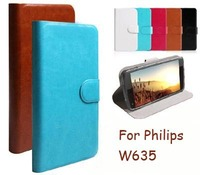 cunzhi Wholesale Wallet Flip PU Leather Cover For Philips W635 Case Special Cell Phones Bag (Gift Touch Pen + Tracking)