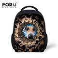 FORUDESIGNS Kids Shoulder Bags Gifts for Teenager Boys Girls 3D Stone Hole Dog School Bags Children Satchel Kids Travel Backpack