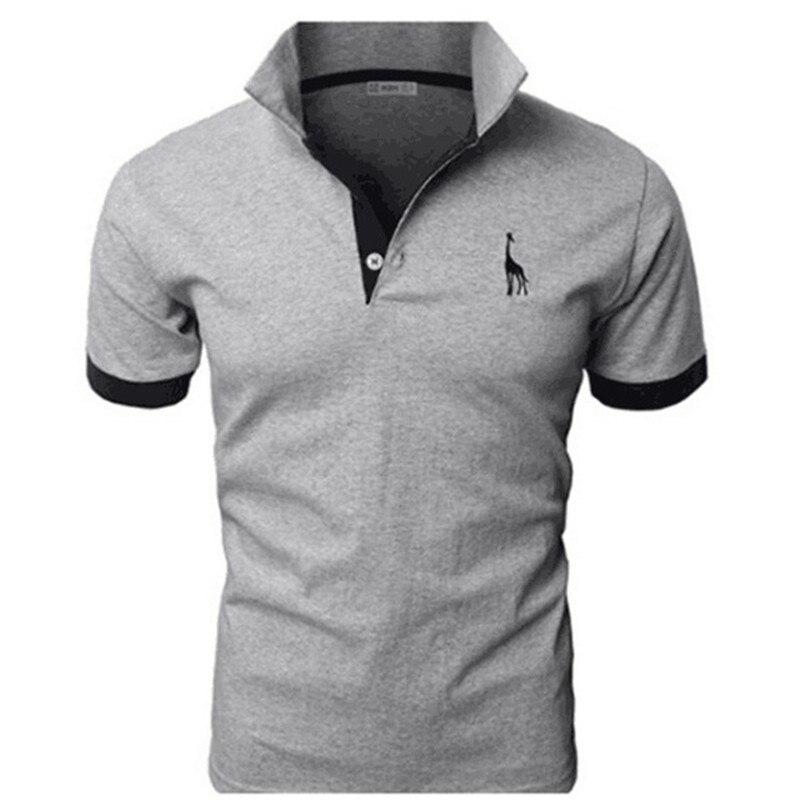 Mutter & Kinder GüNstiger Verkauf 2019 Heulen Hohen Herren Polo-shirt Marken Männlichen Kurzarm Beiläufige Dünne Einfarbig Deer Stickerei Polo Shirt