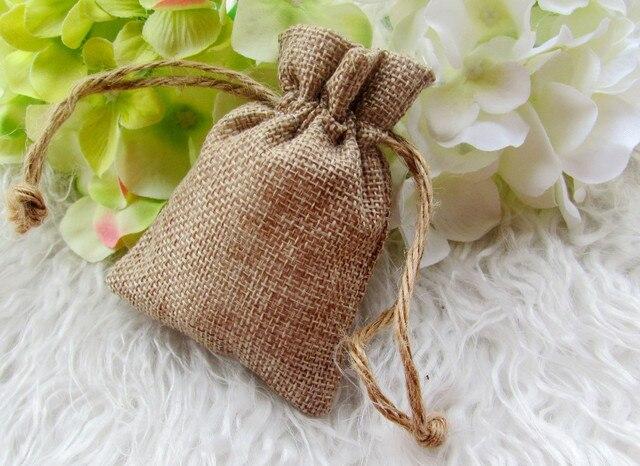 Matrimonio Rustico Bomboniere : 25 pz lotto faux dellassia mini bags matrimonio rustico tela favori